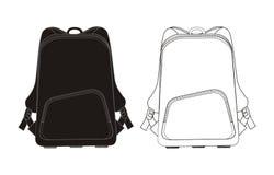 Backpack πρότυπο   Στοκ Φωτογραφία