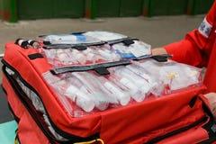backpack πρώτος ενίσχυσης Στοκ εικόνα με δικαίωμα ελεύθερης χρήσης