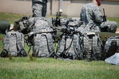 backpack στρατιωτικό Στοκ εικόνα με δικαίωμα ελεύθερης χρήσης