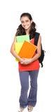 backpack σχολείο κοριτσιών βιβ&la Στοκ εικόνα με δικαίωμα ελεύθερης χρήσης
