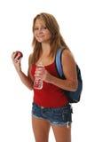 backpack φθορά κοριτσιών στοκ εικόνες