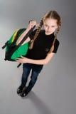 backpack χαριτωμένο κορίτσι λίγα Στοκ Φωτογραφία