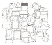 Backpack όλοι σε ένα Στοκ εικόνες με δικαίωμα ελεύθερης χρήσης