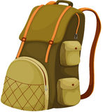 Backpack. Schoolbag backpack on a white background Stock Photography