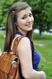 школьница backpack Стоковое Изображение RF