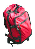 Backpack. A red backpack isolation Royalty Free Stock Image