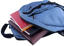 Backpack. School bag with spiral notebooks and binder Stock Photography