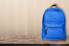 Μπλε backpack Στοκ Φωτογραφίες