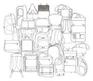 Backpack all in one Royalty Free Stock Images