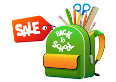 Backpack back to school with the label sale Stock Images