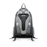 Backpack back view. Isolated on white background. 3d illustration Stock Image