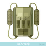 Backpack bag icon on white Royalty Free Stock Images
