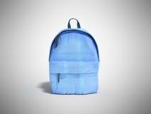 Backpack bag school 3d render on grey gradient Royalty Free Stock Photo