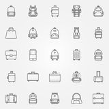 Backpack and bags icons Royalty Free Stock Photos