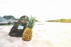 Backpack, Beach, Beachlife Royalty Free Stock Photography