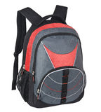 Backpack. Black and red backpack for school Stock Images