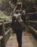 Backpack, Blur, Bridge Royalty Free Stock Images