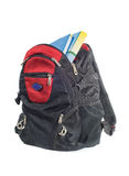Backpack with books Stock Images