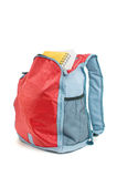 Backpack with books Stock Photo