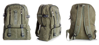 Backpack with clipping path Royalty Free Stock Photos