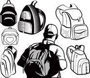 Backpack Collection Royalty Free Stock Photos