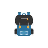 Backpack flat icon, Education and school element Stock Images