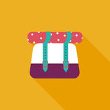 Backpack flat icon with long shadow Royalty Free Stock Photography
