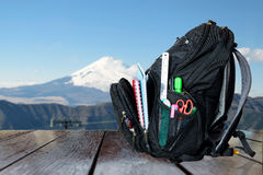 Free Backpack For The Necessities. Stock Photography - 66778002