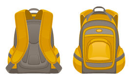 Backpack front and rear view. On a white background Stock Photo