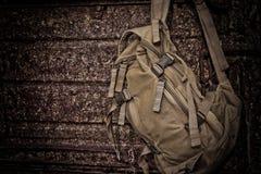 Backpack on a halt Royalty Free Stock Photos