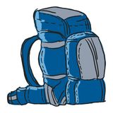 Backpack royalty free illustration
