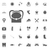 Backpack icon. Camping and outdoor recreation icons set.  Stock Photo