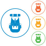 Backpack icon illustration Royalty Free Stock Image
