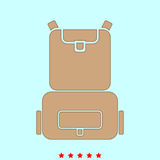 Backpack it is icon . Stock Photos