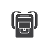 Backpack icon vector, filled flat sign Stock Image