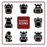 Backpack icons set Stock Image