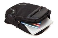 backpack lap-top βιβλίων Στοκ φωτογραφίες με δικαίωμα ελεύθερης χρήσης