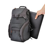 Backpack and laptop Royalty Free Stock Images
