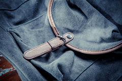 Backpack with leather belt Stock Photography