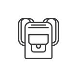 Backpack line icon, outline vector sign Stock Photography