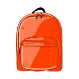 Backpack mockup, sketch for your design Stock Photo