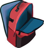 Backpack with multiple pockets Royalty Free Stock Images