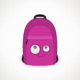Backpack with muzzle. Backpack with a muzzle for girls, pink, vector format Stock Photo