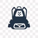 Backpack o ícone do vetor isolado no fundo transparente, Backpac ilustração do vetor