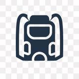 Backpack o ícone do vetor isolado no fundo transparente, Backpac ilustração royalty free