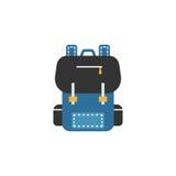 Backpack o ícone, a educação e o elemento lisos da escola ilustração do vetor