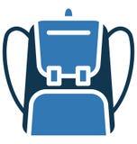 Backpack o uso isolado do ícone do vetor para projetos do curso e da excursão ilustração do vetor