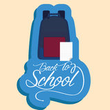 Backpack And Paper With White Space For Text Royalty Free Stock Image