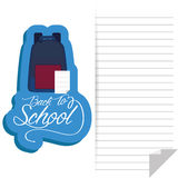 Backpack And Paper With White Space For Text Stock Image