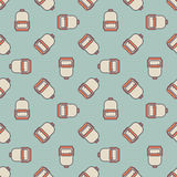 Backpack pattern Stock Image